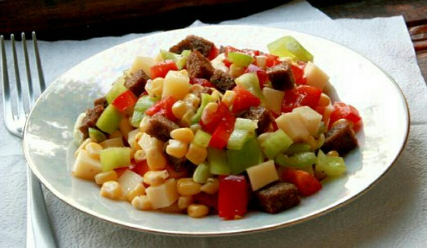 Пёстрый салат