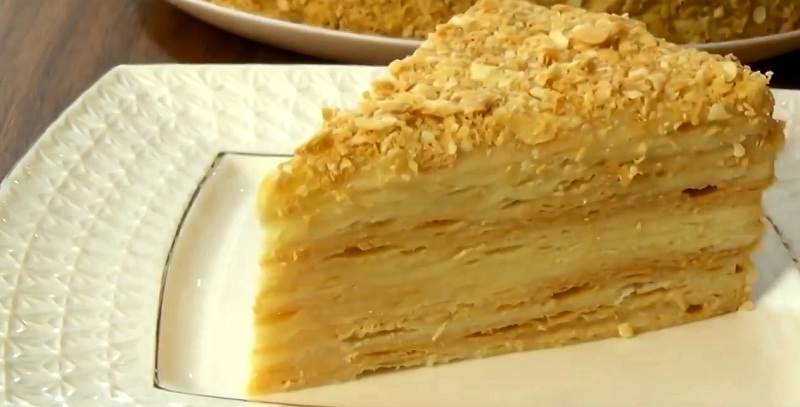 Торт наполеон пошаговый рецепт с с заварным кремом из готового теста