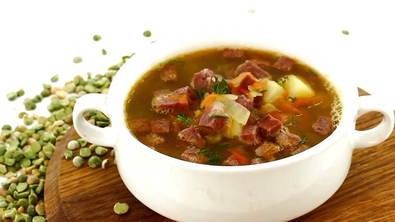 Как сварить суп из колбасы копченой
