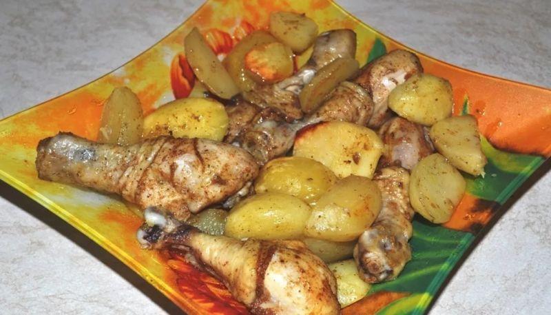 Куриные ножки с картошкой в духовке - 5 рецептов с фото пошагово