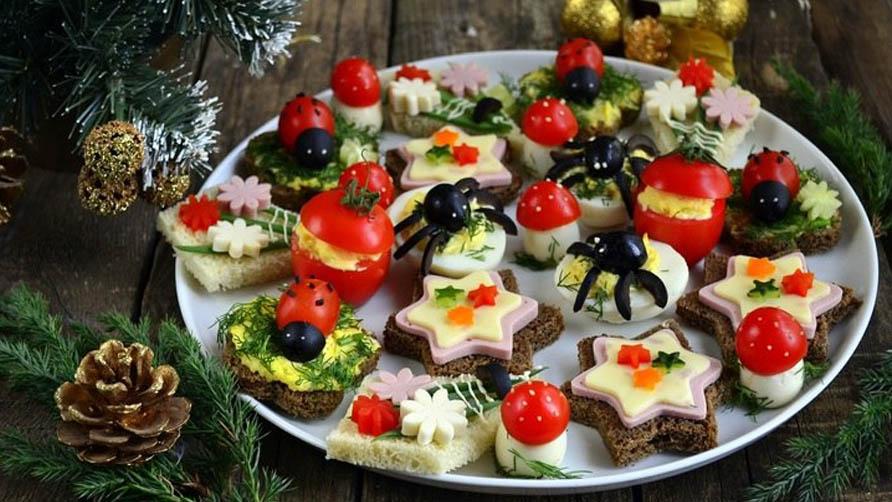 Красивые закуски на новогодний стол