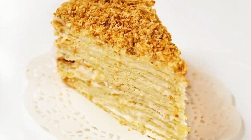 Калорийность торта наполеон с заварным кремом