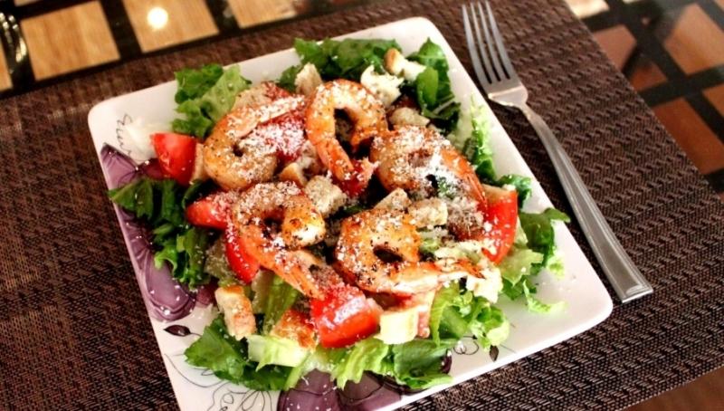 Фото рецепты салата с креветками