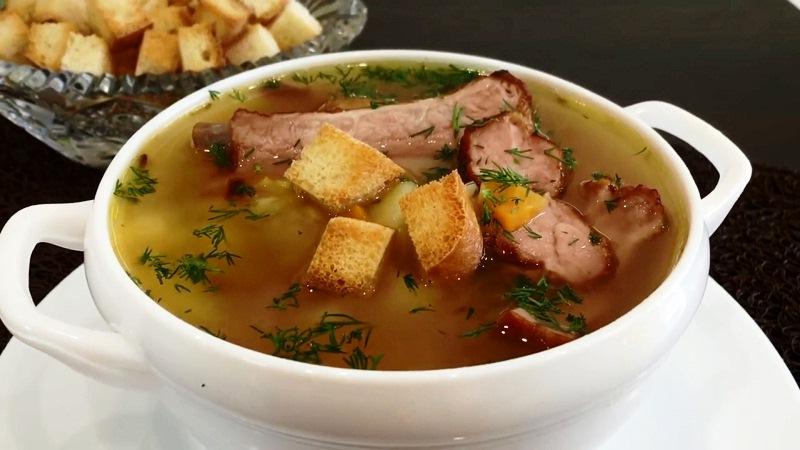как правильно варить гороховый суп с копчеными ребрышками рецепт
