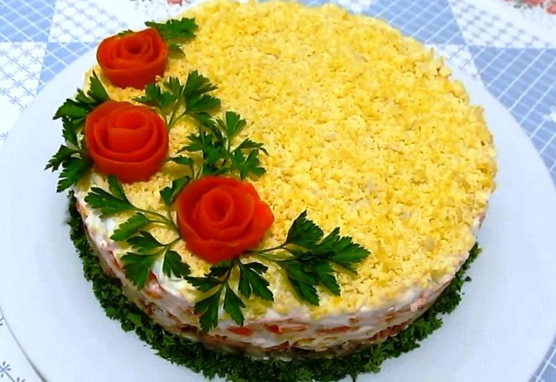 Украсить салат мимоза рецепты с фото