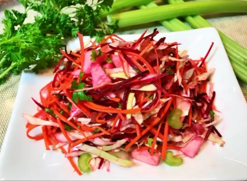 Разгрузочный день салат щетка