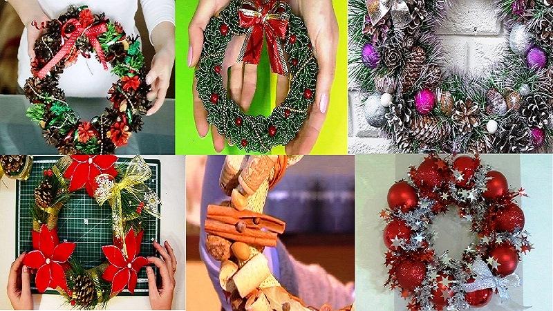 gotovyi-novogodniy-venok Как сделать новогодний рождественский венок на дверь своими руками: идеи, мастер класс, фото. Как купить новогодний венок в интернет магазине Алиэкспресс?