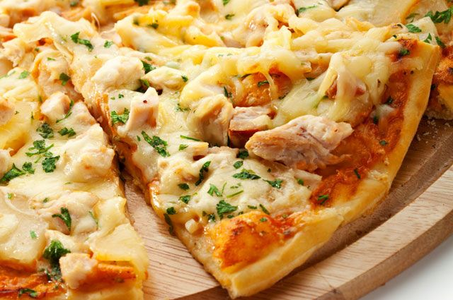 Мини пицца с курицей - рецепт пошаговый с фото