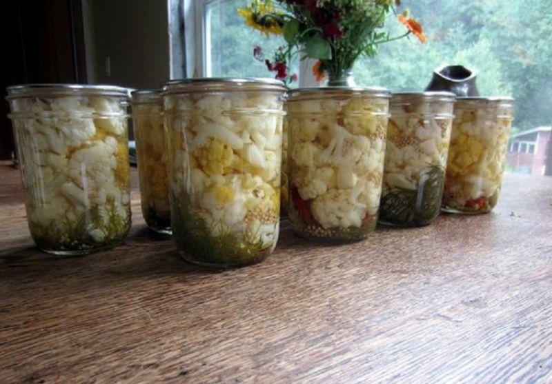 Цветная капуста на зиму заготовки быстрого приготовления 9 вкусных рецептов с фото