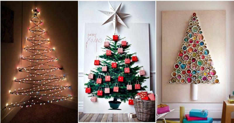 Необычное оформление новогодних елок