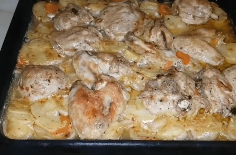 Куриное жаркое из духовки