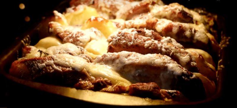 Жаркое из свинины с картошкой в духовке