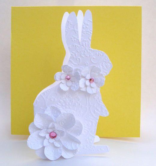 открытки с пасхальным кроликом своими руками самую простую