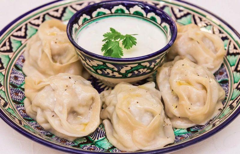 Узбекские манты с мясом и тыквой