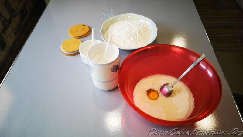 добавить яйцо в тесто