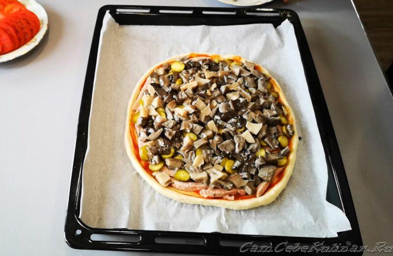 грибной слой в пицце