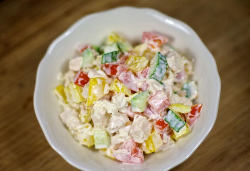 Салаты из курицы — простые и очень вкусные рецепты