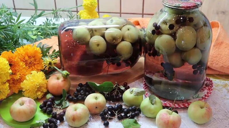 Компот из яблок на зиму на 3 литровую банку — рецепты без стерилизации